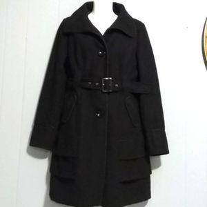 Steve Madden Black Wool Blend Coat